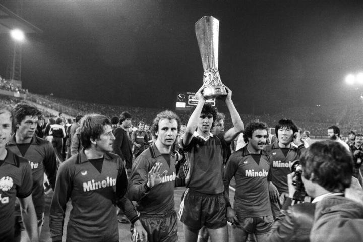 1979/80 feierte die Eintracht den Gewinn des UEFA-Pokals.