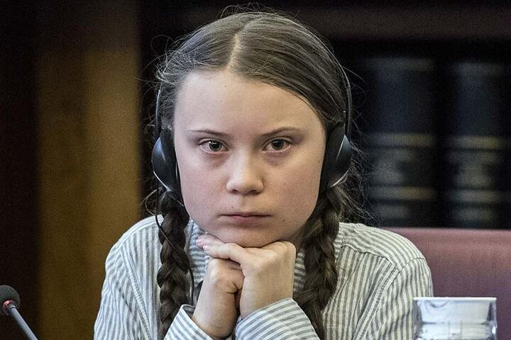 Greta Thunberg im italienischen Senat anlässlich einer Klima-Konferenz im April 2019.