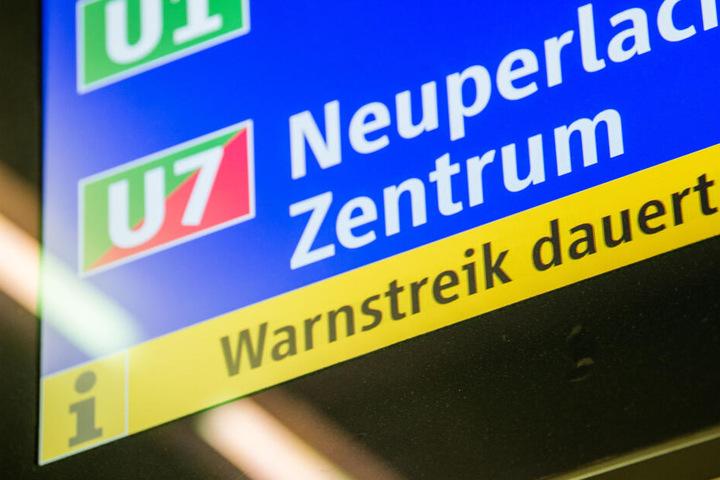 Die U-Bahn soll am Dienstag in München bestreikt werden.