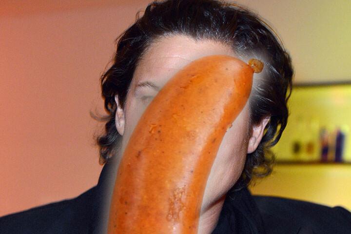 So stellen wir uns Vito als Bockwurst mit Haaren vor. (Bildmontage)