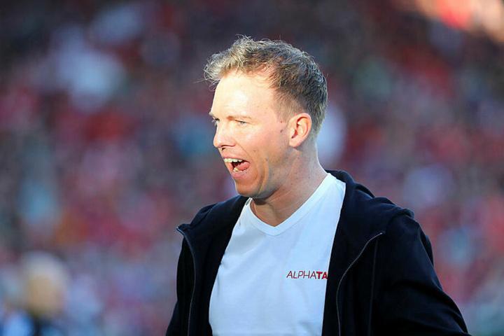 Zurecht alles andere als zufrieden mit dem Auftritt seiner Elf: RB-Coach Julian Nagelsmann.