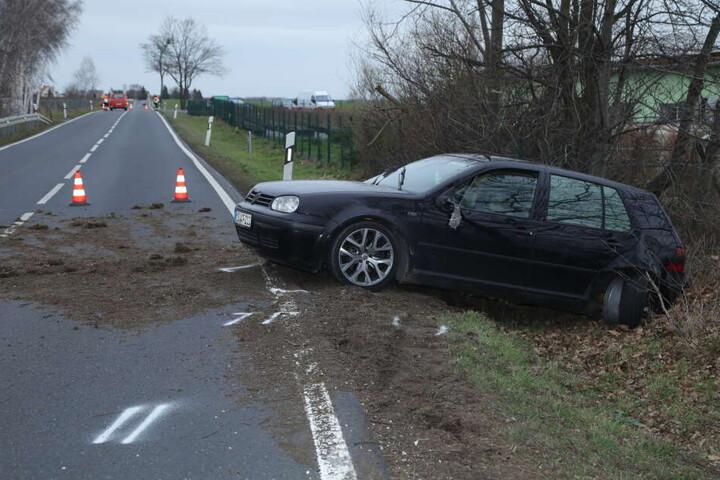 Auch ein VW Golf IV war an dem Unfall beteiligt.