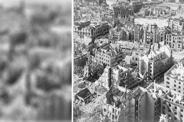 Die Stadt Trümmern: Tausende Dresdner verloren bei den Luftangriffen auf Dresden ihr Leben.