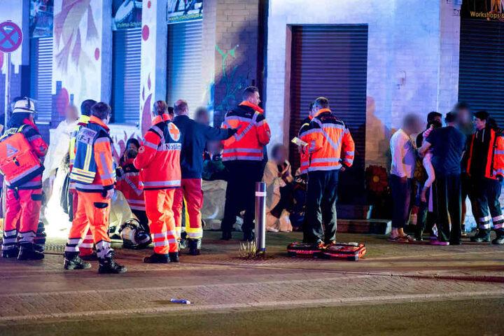 19 Personen mussten von den Rettungskräften versorgt werden.