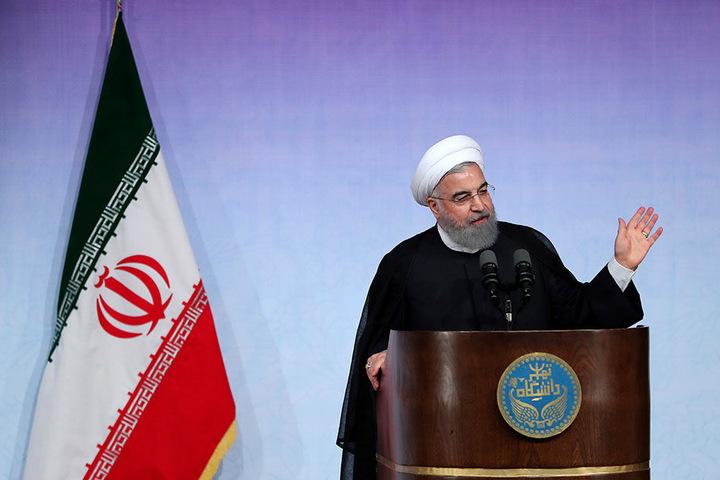 Ein vom Office of the Iranian Presidency zur Verfügung gestelltes Foto zeigt den iranischen Präsidenten Hassan Ruhani.