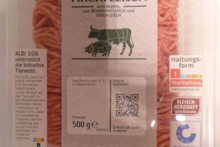 So sieht die betroffene Hackfleisch-Packung aus.