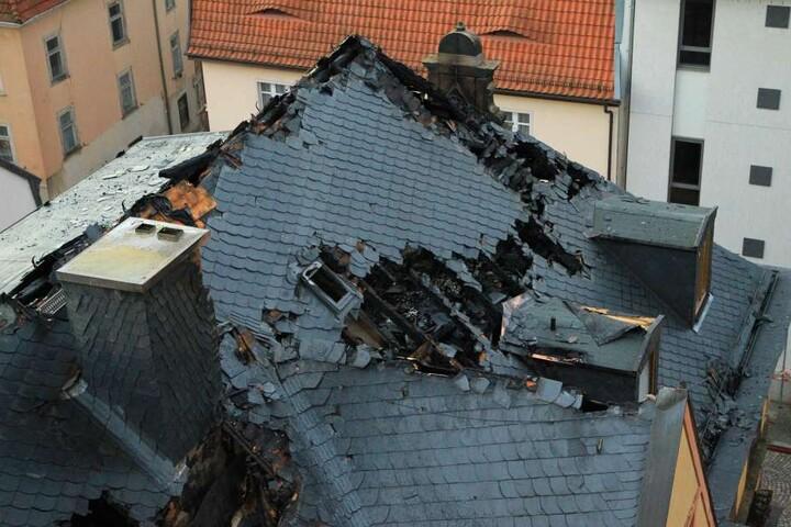 So sieht das Gebäude nach dem Brand aus.