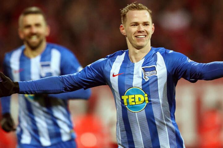 Duda bejubelt seinen Treffer gegen Nürnberg.