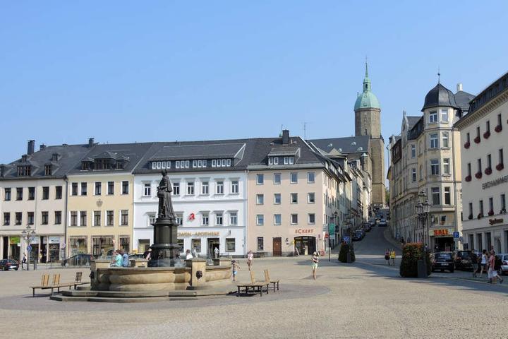 Die Annaberger Innenstadt verwandelt sich während des Festivals in eine Traumkulisse.