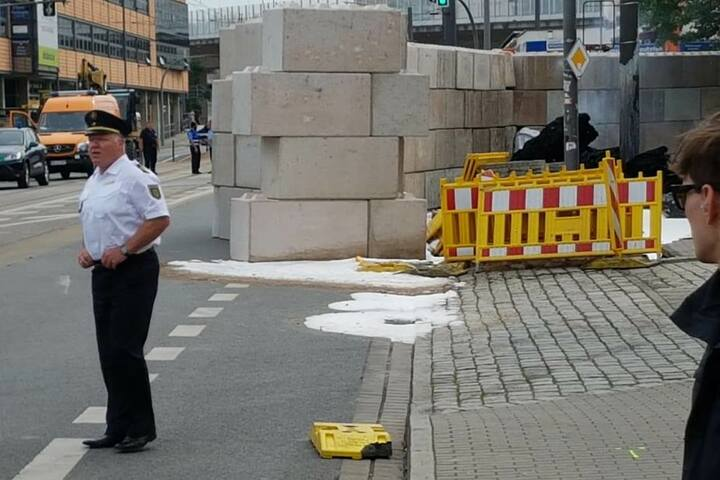 Polizeipräsident Kretzschmar am Einsatzort.