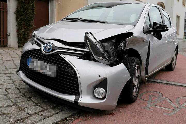 Der Toyota der 88-jährigen bekam am Meisten ab...