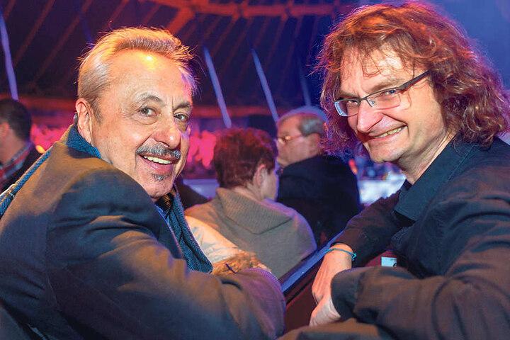 Künstler Kay Leo Leonhardt neben TV-Liebling Wolfgang Stumph (70, li.).