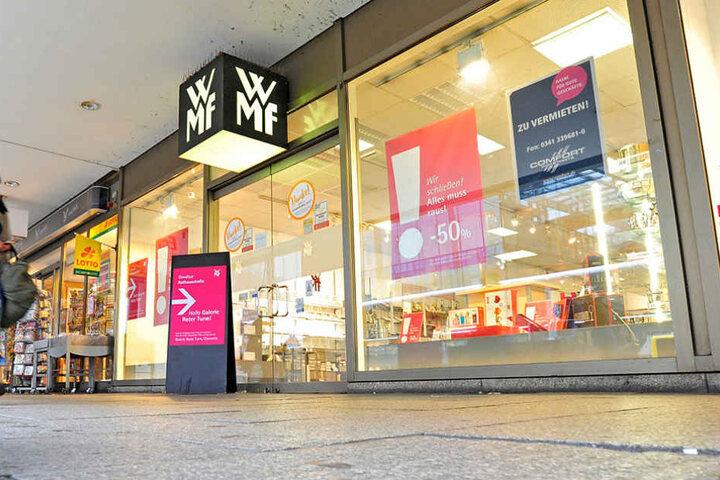 """Der WMF-Laden flüchtet von der Zenti in den Roten Turm - wegen des """"lokalen Umfelds""""."""
