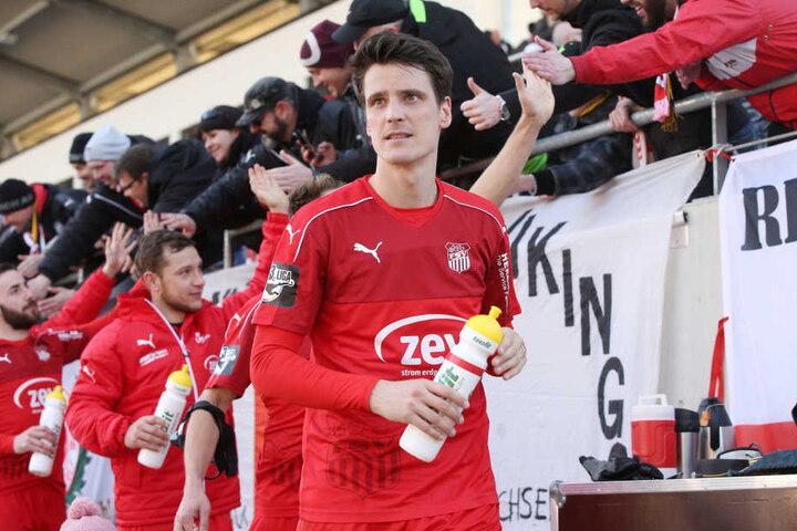 Jonas Acquistapace besitzt in Zwickau noch Vertrag bis 2019.