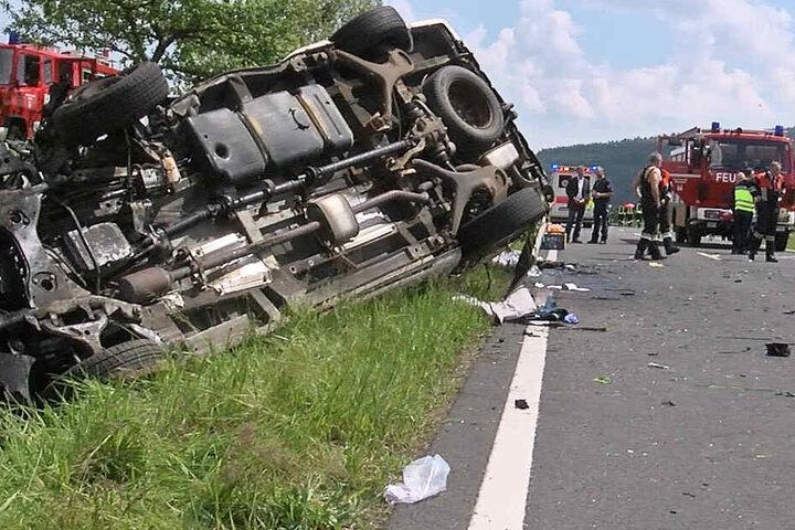 Die Staatsstraße 2267 wurde für mehrere Stunden komplett gesperrt.