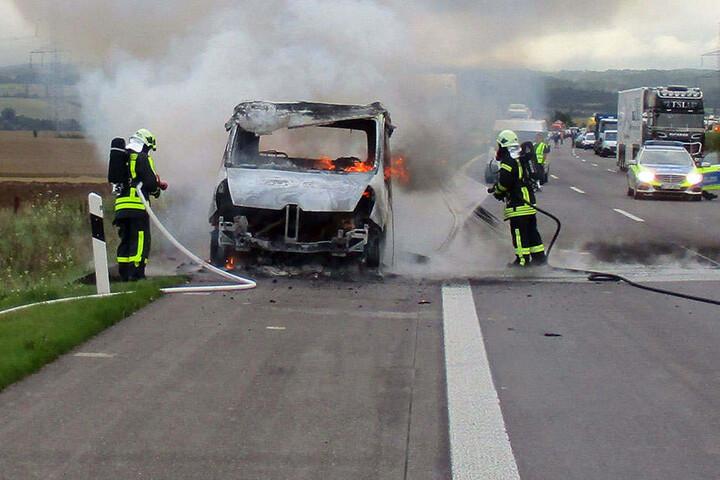 Die Autobahn musste vollgesperrt werden.