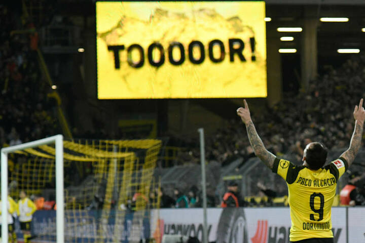 Alcacer erzielte den Siegtreffer im Spiel gegen den FC Bayern München.