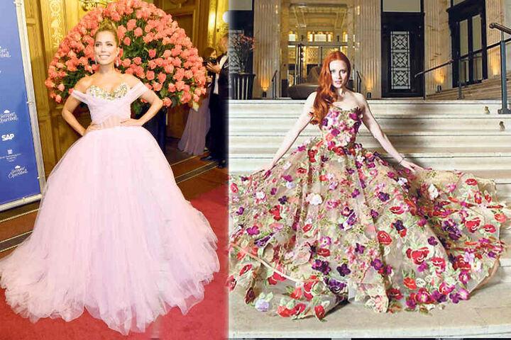 Da haben sich zwei Traum-Frauen gefunden: Barbara Meier (33) will mit Sylvie Meis (41, rosa Kleid) zum Wiener Opernball kommen.