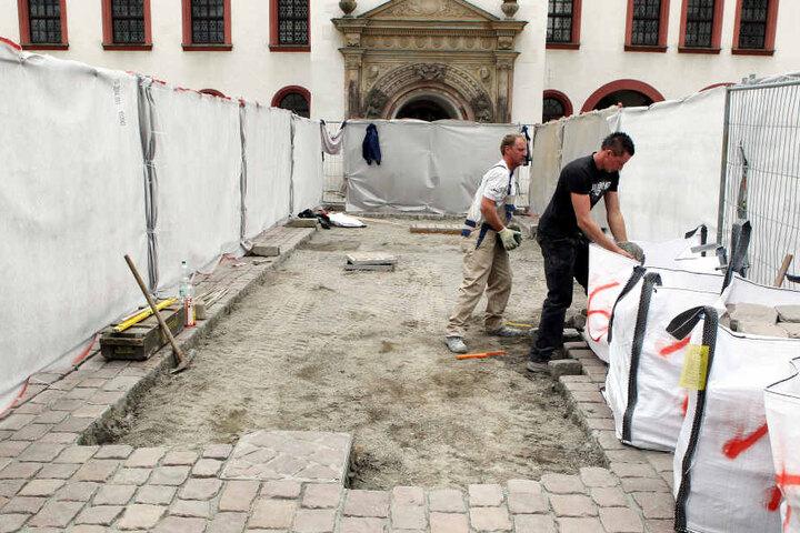 2010 wurde das Pflaster vor dem Alten Rathaus erneuert.