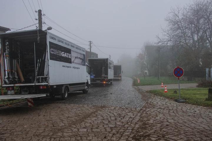 Die Crew braucht wie immer enorm viel Platz in Troistedt.