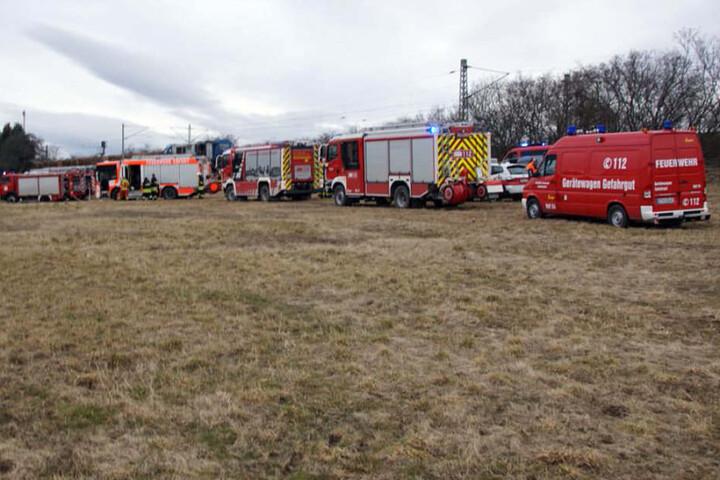 Feuerwehren aus Erfurt und dem Landkreis Gotha waren im Einsatz.