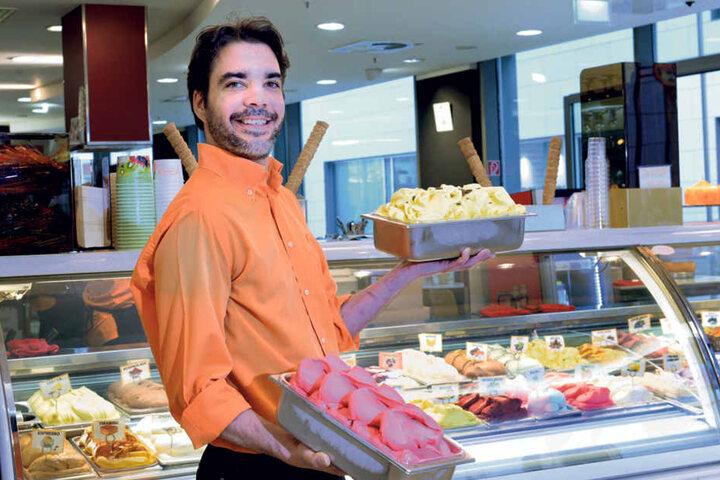 Eis, Eis, Baby: Gelati-Eisverkäufer Miguel Grilo (38) stockt sein Sortiment  von 25 auf 40 Sorten auf.