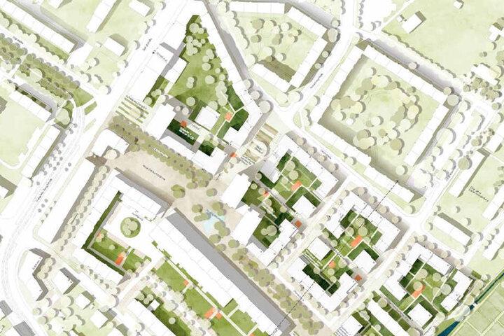 Ein Entwurf der Stadt zeigt eine mögliche künftige Bebauung.