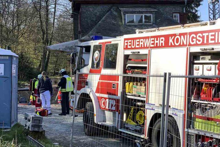 Die Feuerwehr rettete den Mann.