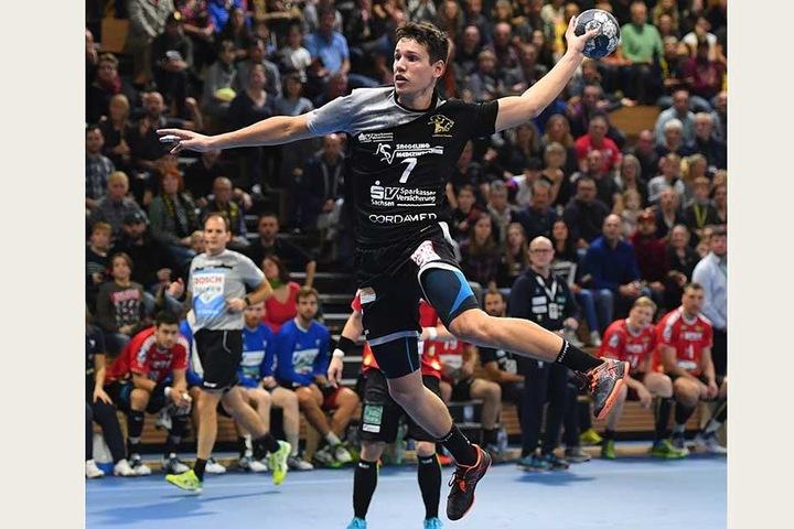 Der 20-jährige Oskar Emanuel war mit acht Toren erfolgreichster HCE-Werfer.