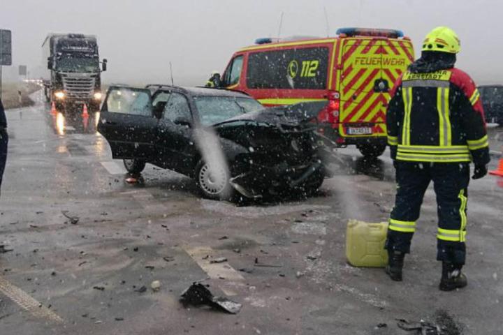 Dieser Unfall bei Arnstadt forderte zwei Schwerverletzte.