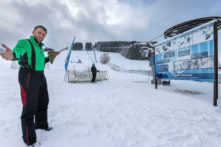 Skiliftbetreiber Alexander Richter aus Holzhau hat Ärger mit einem Nachbarn. Das Gericht forderte gestern die beiden Streithähne auf, sich zu einigen.