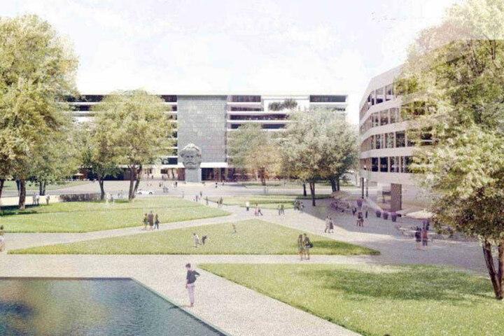 Entwürfe für eine Randbebauung des Parks waren vor zwei Jahren bei den Chemnitzern auf Ablehnung gestoßen.