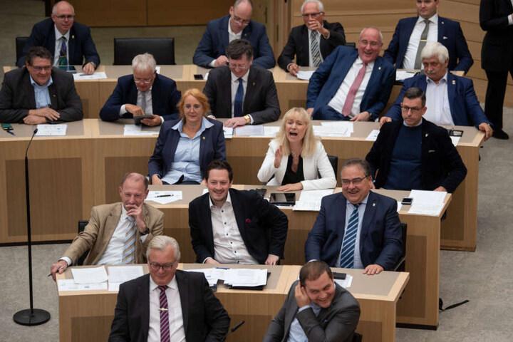 Fraktion der AfD am Mittwoch im Landtag von Baden-Württemberg.