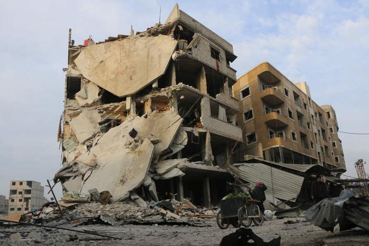 In weiten Teilen Syriens gehören Krieg und Zerstörung inzwischen zum Alltag