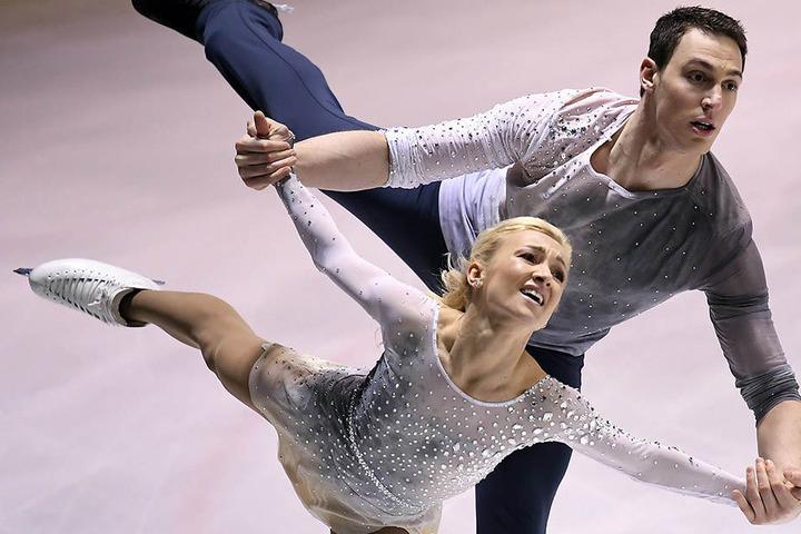 """Aljona Savchenko (33) und Bruno Massot (28) sind die Stars der """"Emotions on Ice""""-Show am 28. Dezember in der Chemnitzer Arena."""