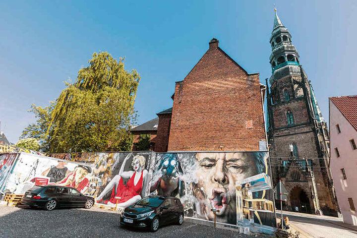 Im Sommer 2017 kam es zwischen Tasso und der Stadt wegen dieses Wandbildes in der Peter-Breuer-Straße zum Streit.