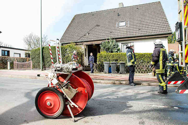 Die Einsatzkräfte hatten den Küchenbrand schnell im Griff.