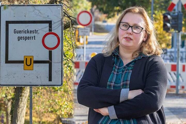Bahnübergang Guerickestraße gesperrt: Für CDU-Stadträtin Solveig Kempe (37) keine kluge Planung.