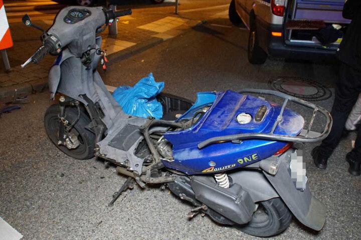 Das Zweirad wurde stark beschädigt.