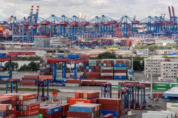Am Hamburger Hafen könnten Container bald per Hyperloop transportiert werden.