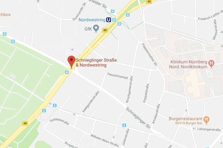Der Mann floh aus dem Nordklinikum und sprach das Mädchen an der Ecke Schnieglinger Straße und Nordwestring an.