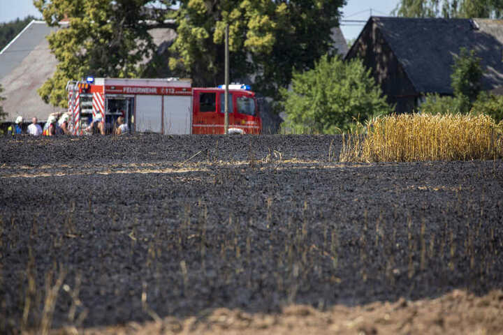 Etwa 3000 Quadratmeter Feld sind bei Frankenberg abgebrannt.