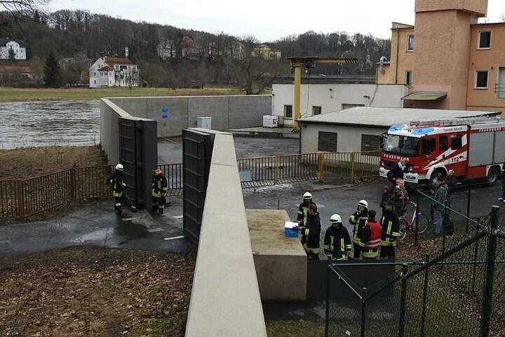 Schotten dicht: An der Mulde in Grimma wurde Alarmstufe 2 ausgerufen.