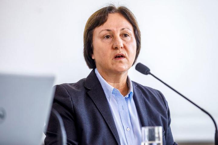 Landeswahlleiterin Carolin Schreck, die auch Präsidentin im Statistischen Landesamt Kamenz ist.