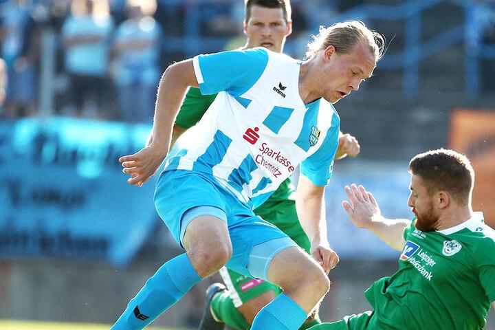 Kimmo Hovi traf zum Führungstreffer für den Spitzenreiter der Regionalliga Nordost.
