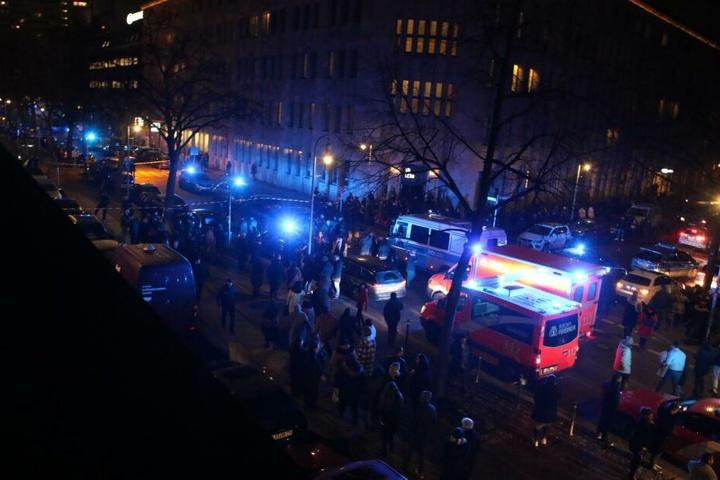 Die Polizei war mit einem Großaufgebot im Einsatz.