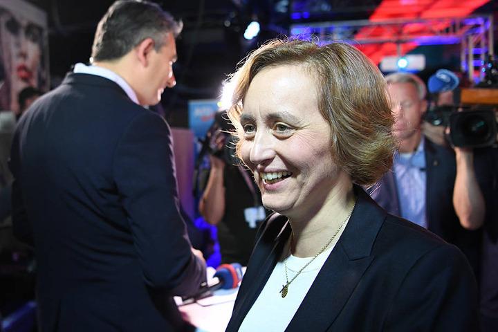 """Beatrix von Storch, stellvertende Parteisprecherin der Partei """"Alternative für Deutschland"""" (AfD), auf der Wahlparty ihrer Partei in Berlin."""