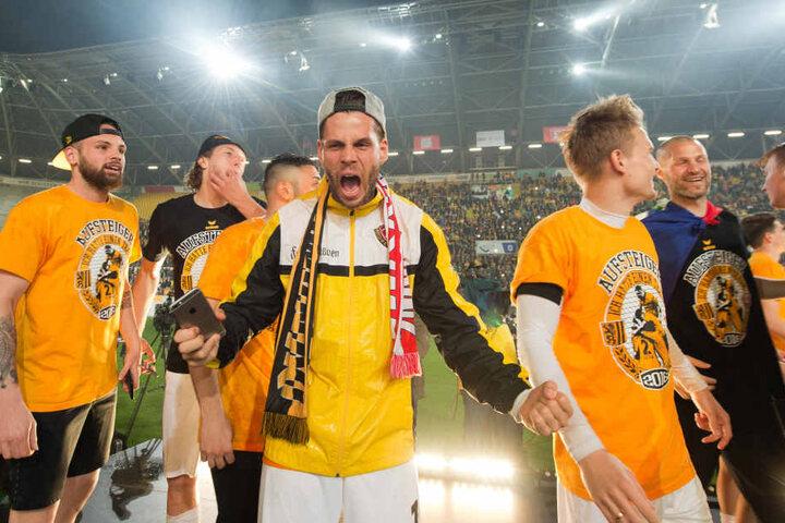 Mitte des Jahres feierte Dynamo Dresden den Aufstieg in die Zweite Bundesliga.