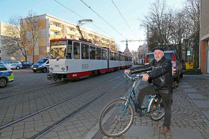 """""""Ich würde mich über mehr Radwege freuen"""", sagt Rainer Thoss (63)."""