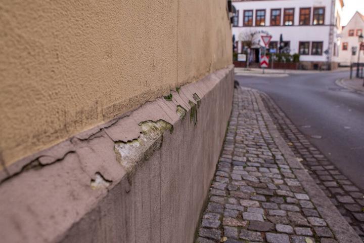 Auch für diese Hausfassade war die Tanne mit acht Metern etwas zu breit.